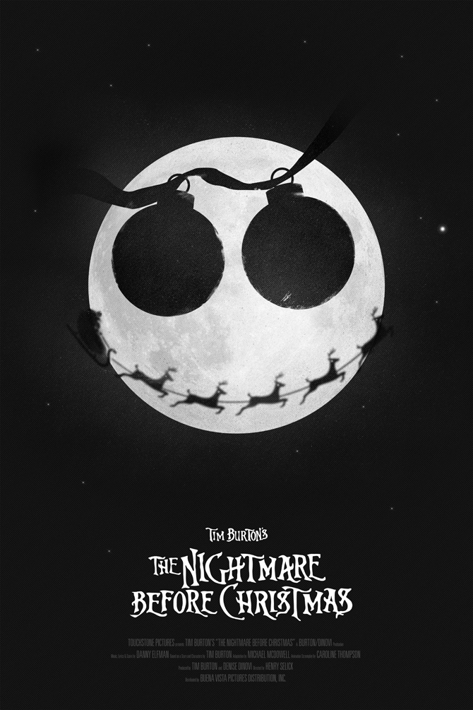 the nightmare before christmas poster excites the portfolio of simon c page - The Nightmare Before Christmas Poster