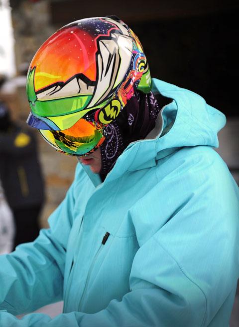 Spray Paint Ski Helmet