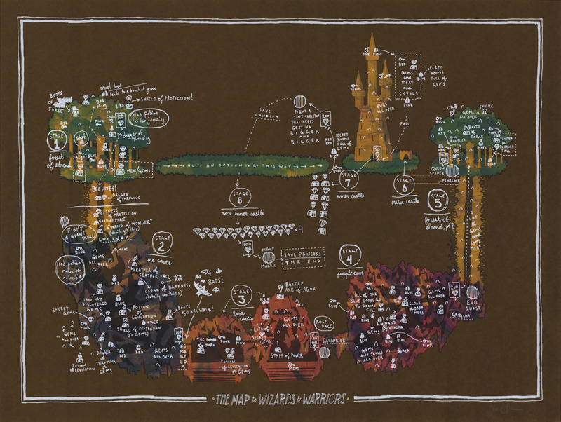 The map to wizards warriors gallery 1988 landland for Wizards warriors