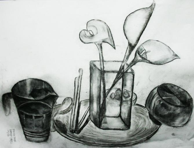 Still Life Drawing - Drawing
